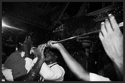 Removal Of The Rods From The Cheek After The Piercing Ritual by firoze shakir photographerno1