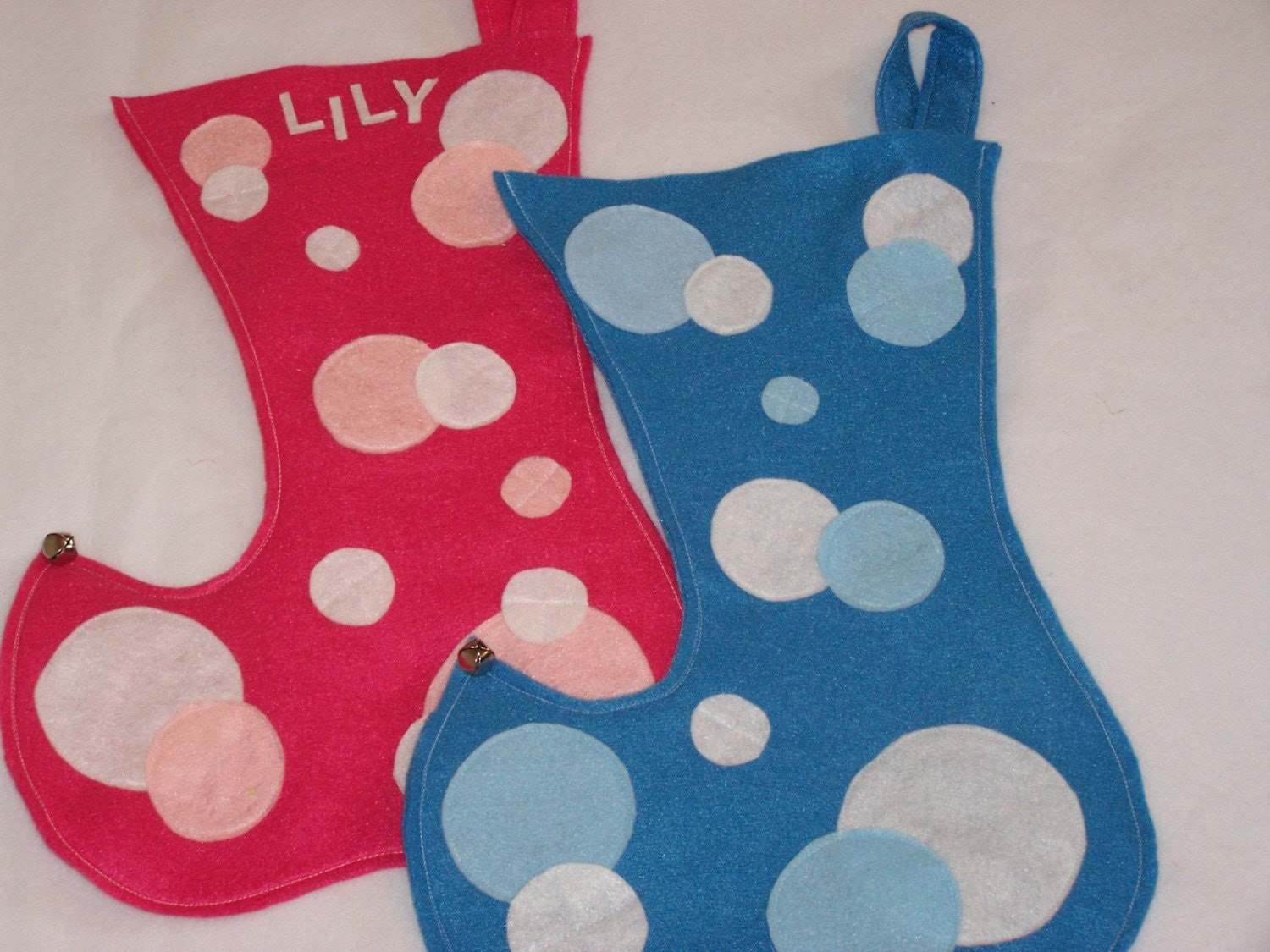Blue Elf Stocking  pick one either stripe or dot