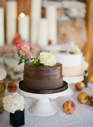 southern wedding   mini chocolate cake