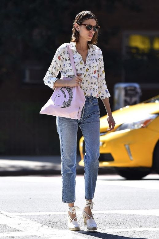 Le Fashion Blog Alexa Chung 7 Pairs Of Espadrilles To Buy For Summer Via Who What Wear