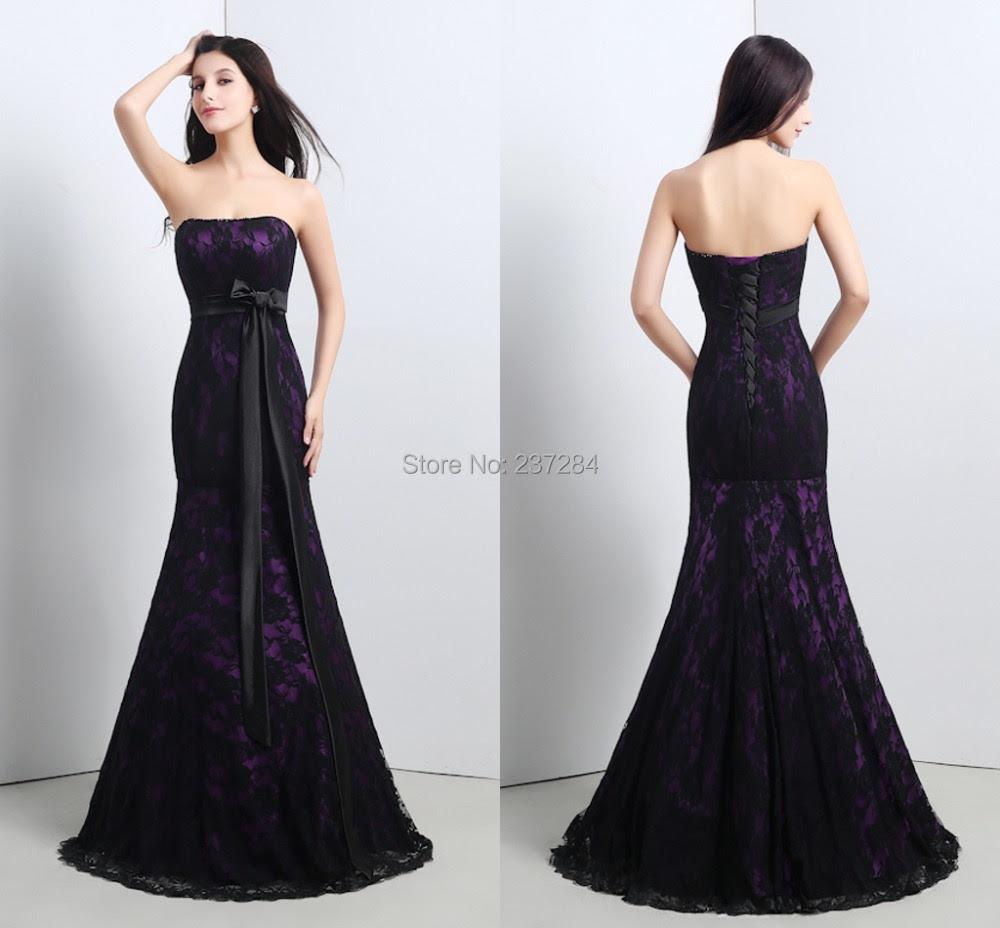 Cheap black evening dress