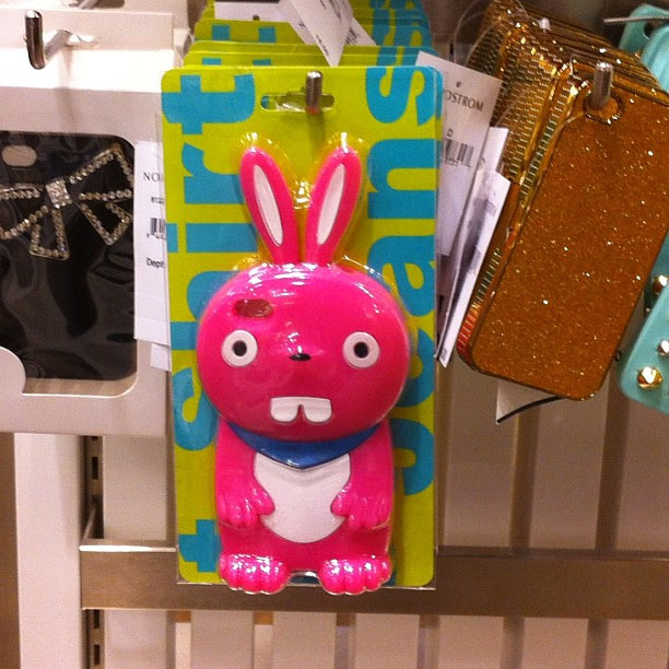 Pink bunny iPhone cover.
