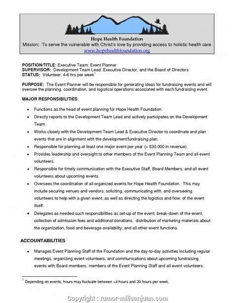 Executive Event Organizer Job Description Sample What Are