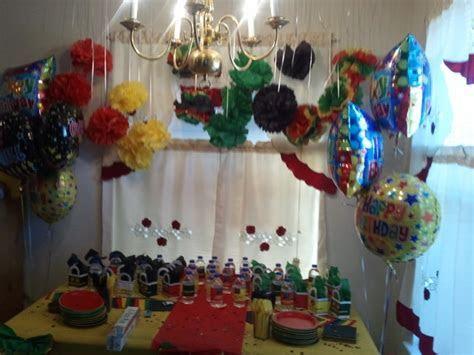 My decor at my friend reggae style birthday party   My
