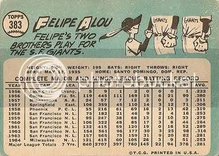 #383 Felipe Alou (back)
