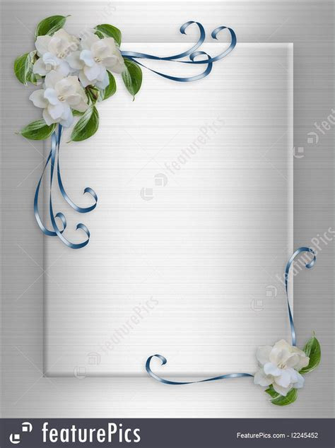 Wedding Invitation Background Gardenias