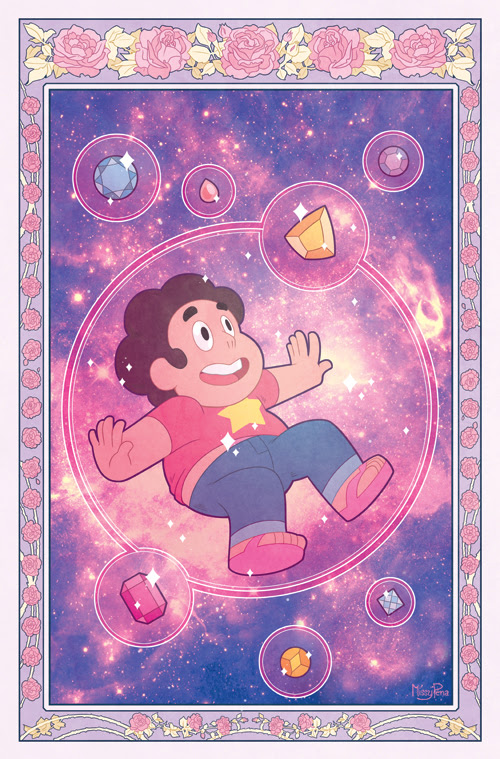 This week issue #1 of the new Steven Universe comic is out! Here's the original ( A ) cover I did for it - the one printed is a little different, but still came out cute as heck! The story inside b...