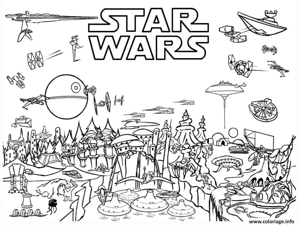 Coloriage Star Wars 13 Dessin  Imprimer