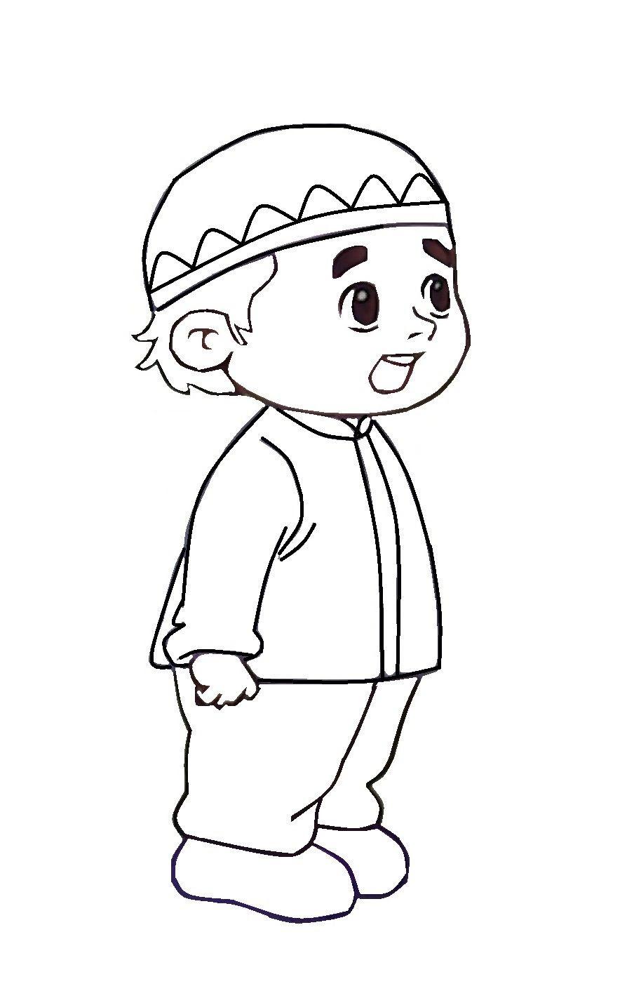 Gambar Kartun Muslimah Kanak Kantor Meme Warnakan Anak Muslim Azhan