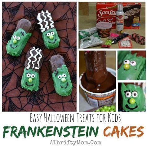 Easy Halloween Frankenstein Cakes
