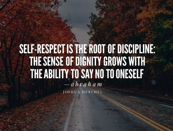 Self Respect Is The Root Of Discipline The Sense Of Dignity Grows