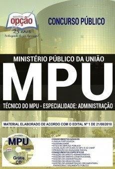 APOSTILA MPU - Técnico do Ministério Público da União