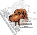 Redbone Coonhound Dog Intarsia - Yard Art Woodworking Pattern - fee plans from WoodworkersWorkshop® Online Store - Redbone Coonhound Dogs,pets,animals,dogs,breeds,instarsia,yard art,painting wood crafts,scrollsawing patterns,drawings,plywood,plywoodworking plans,woodworkers projects,workshop blueprints