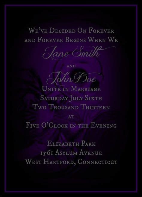 Purple and Black Nightmare Before Christmas Invitation by