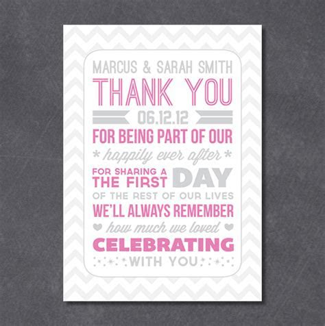 Typography Style Wedding Thank You Notes & a Freebie