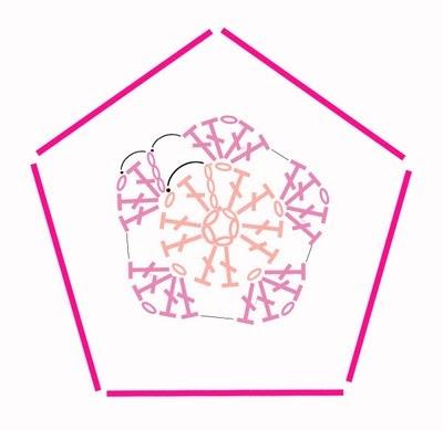 Цветочный фрагмент крючком АФРИКАНСКИЙ ЦВЕТОК для вязания игрушек (78) (400x389, 56Kb)