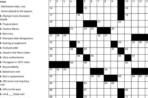 Printable Crosswords | Puzzle Baron