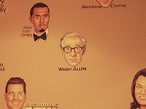 Woody Allen, The Palm, NYC