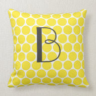 Yellow Big Dot throwpillow