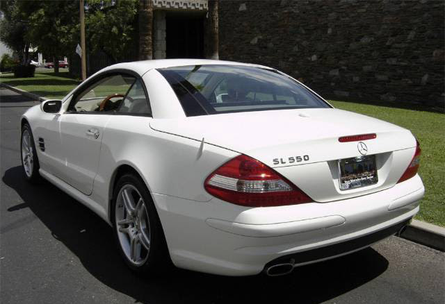 Stock 2007 Mercedes-Benz SL550 1/4 mile Drag Racing ...