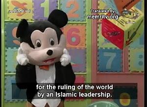Palestino Hamas usa sua versão do Mickey Mouse para convencer crianças de que o mundo deve ser comandado por islâmicos
