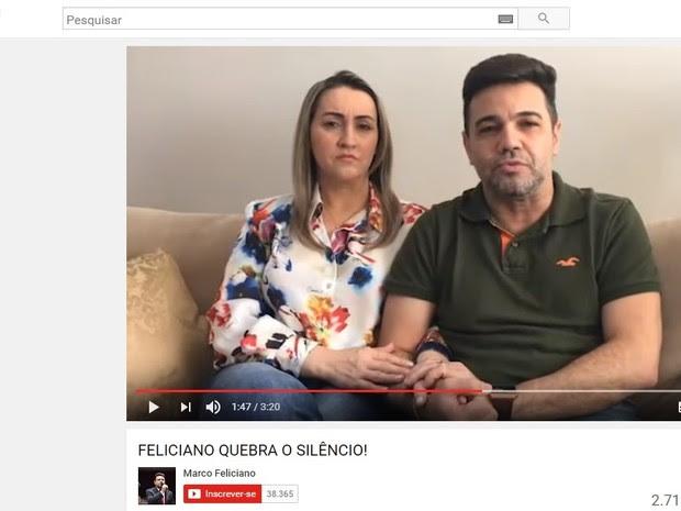 Em vídeo, Feliciano nega acusações de assédio sexual contra militante do PSC (Foto: Reprodução/YouTube)