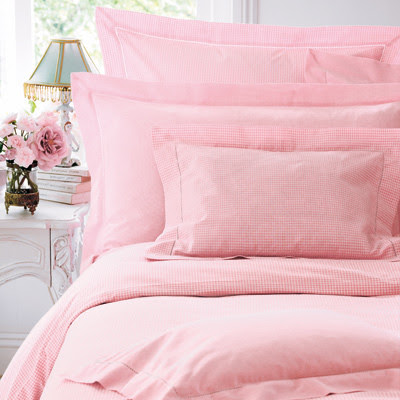 Pink Gingham Bed Linen - Cologne & Cotton - traditional - sheet ...