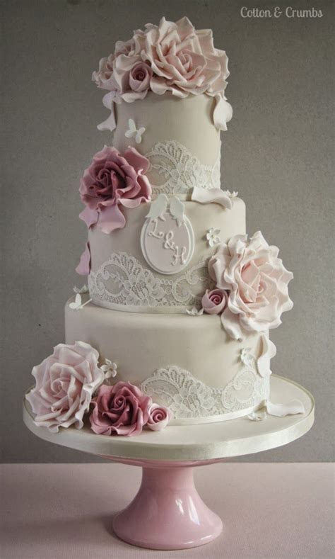 Best 25  Lace wedding cakes ideas on Pinterest   Vintage