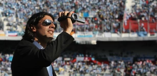 Loco Abreu com a filmadora antes da final da Copa América 2011: 'perda sentimental'