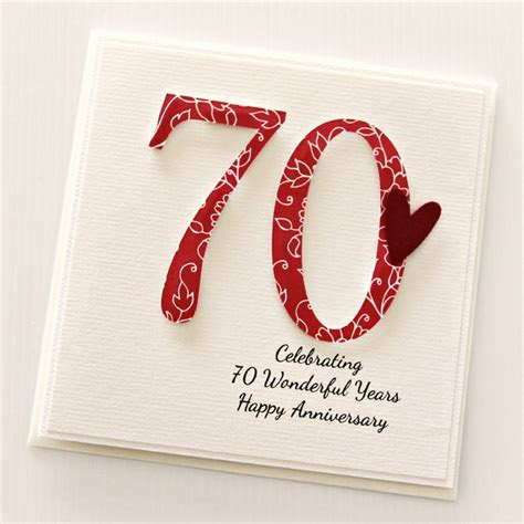 70th Anniversary Custom card personalised wedding husband