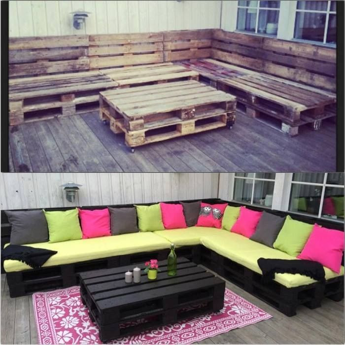 DIY Outdoor Pallet Sofa | 15 Truly Inspiring Pallet Sofa Projects