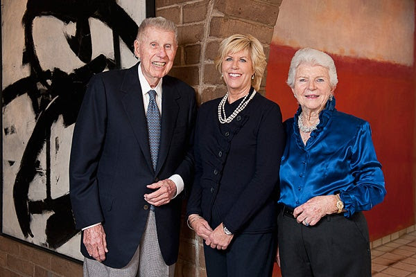 Harry W. Anderson, left, Mary Patricia Anderson Pence and Mary Margaret Anderson