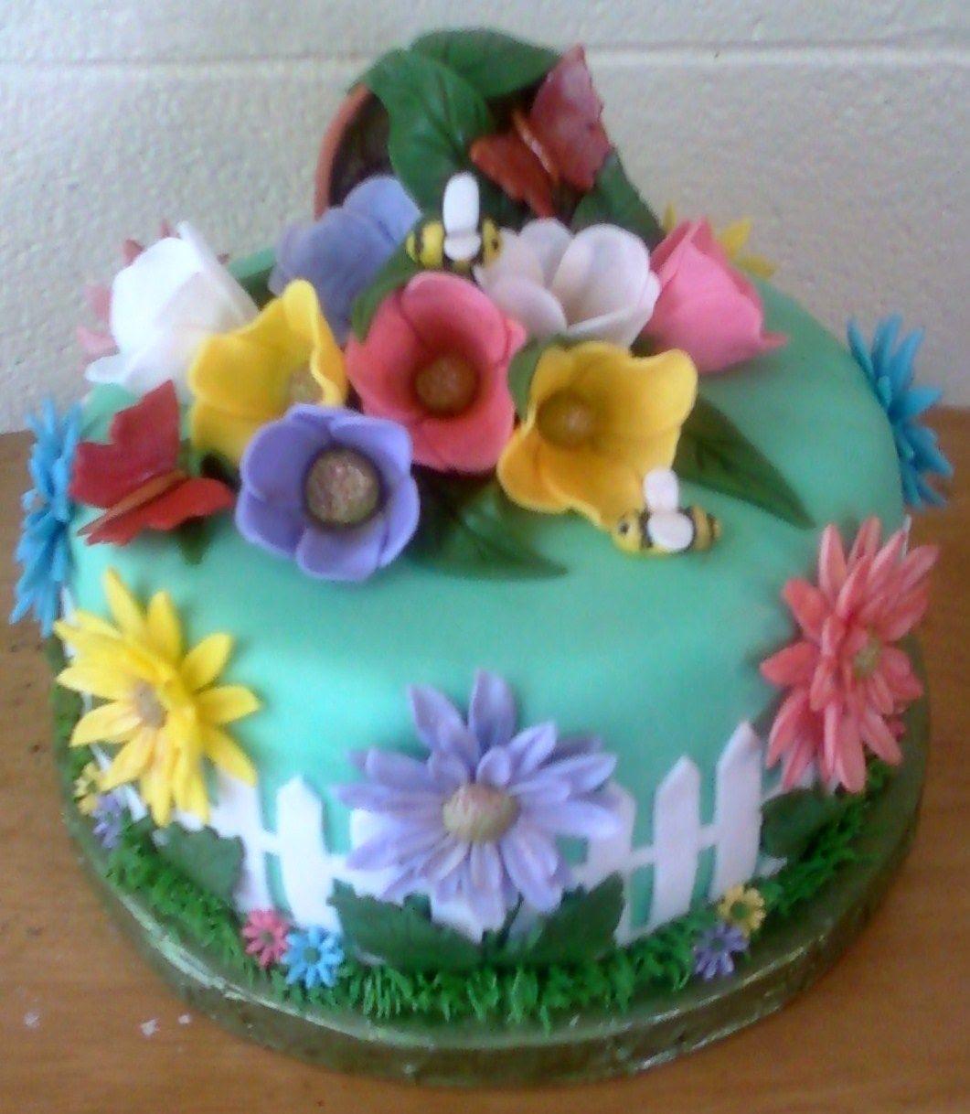 Flower Garden Cake   cake ideas!   Pinterest