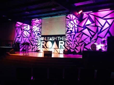 Stage design idea: foam board triangles arranged randomly