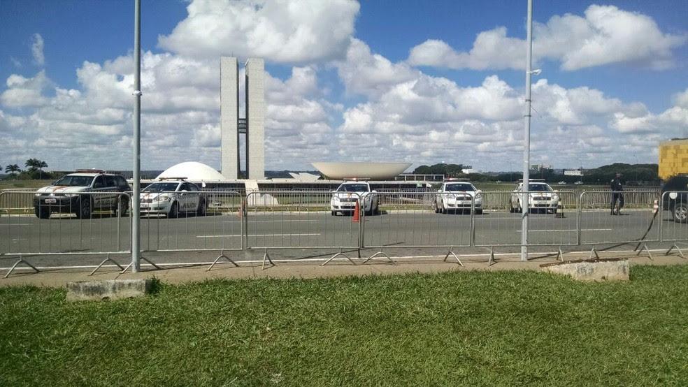 Segurança do Congresso fica sob responsabilidade da PMDF (Foto: Beatriz Pataro/G1)