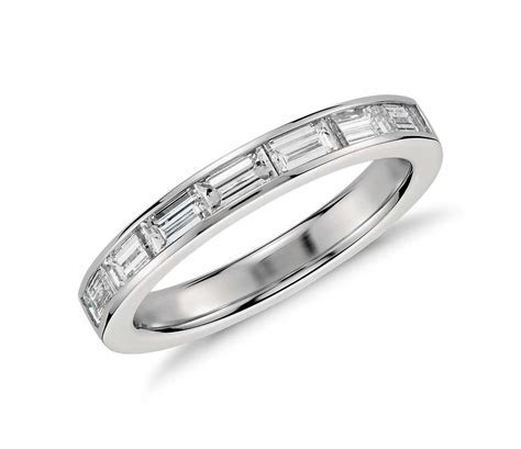 Channel Set Baguette Diamond Ring in Platinum   Blue Nile