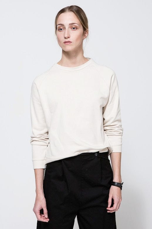 Le Fashion Blog Casual Fall Style Off White Sweatshirt Watch Black Pants Via Need Supply