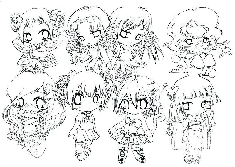 45 Coloring Pages Cute Anime , Free HD Download