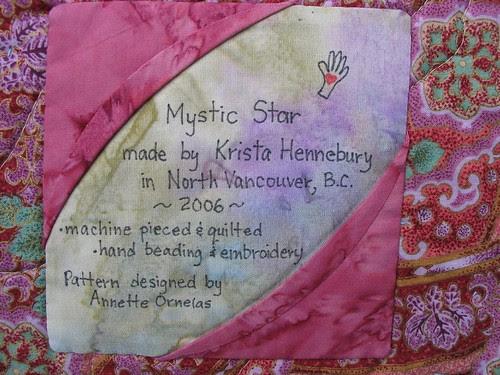 Mystic Star label