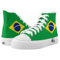 Brazilian flag High Top Shoes Printed Shoes