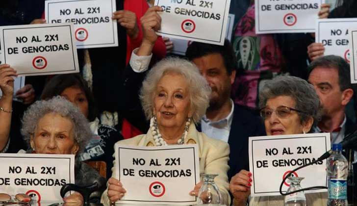 ARGENTINA: Lanzan campaña pública para que la Corte Suprema revierta el fallo del 2x1 que benefició a los represores.