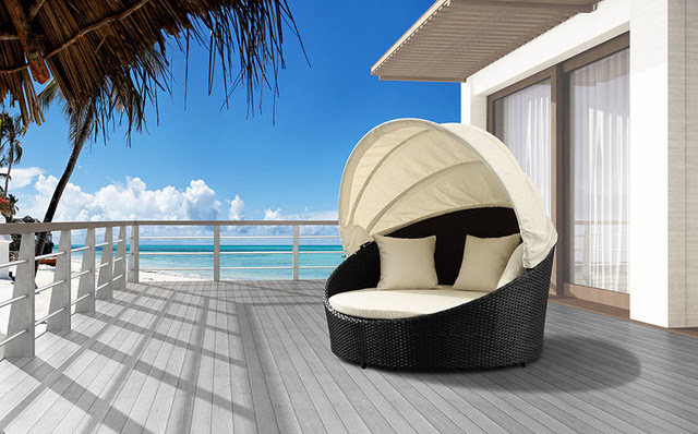 Colva Canopy Day Bed - modern - patio furniture and outdoor ...