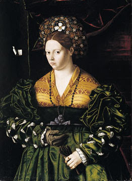 File:Veneto, Bartolomeo - Portrait of a Lady in a Green Dress - 1530.jpg