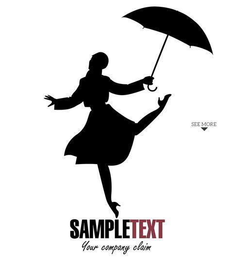 Girl dancing in the rain 1 ~ Illustrations ~ Creative Market
