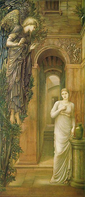 The Annunciation, Oil on canvas, 250 x 104 cm ...
