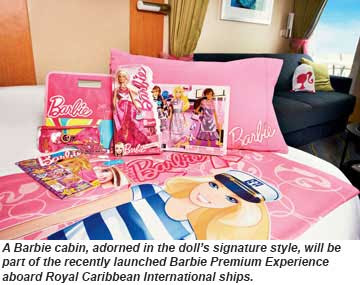 Royal Caribbean offers the Barbie Experience