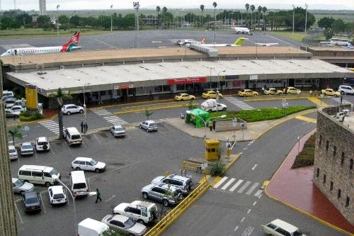 Jomo Kenyatta International Airport in Nairobi, Kenya.