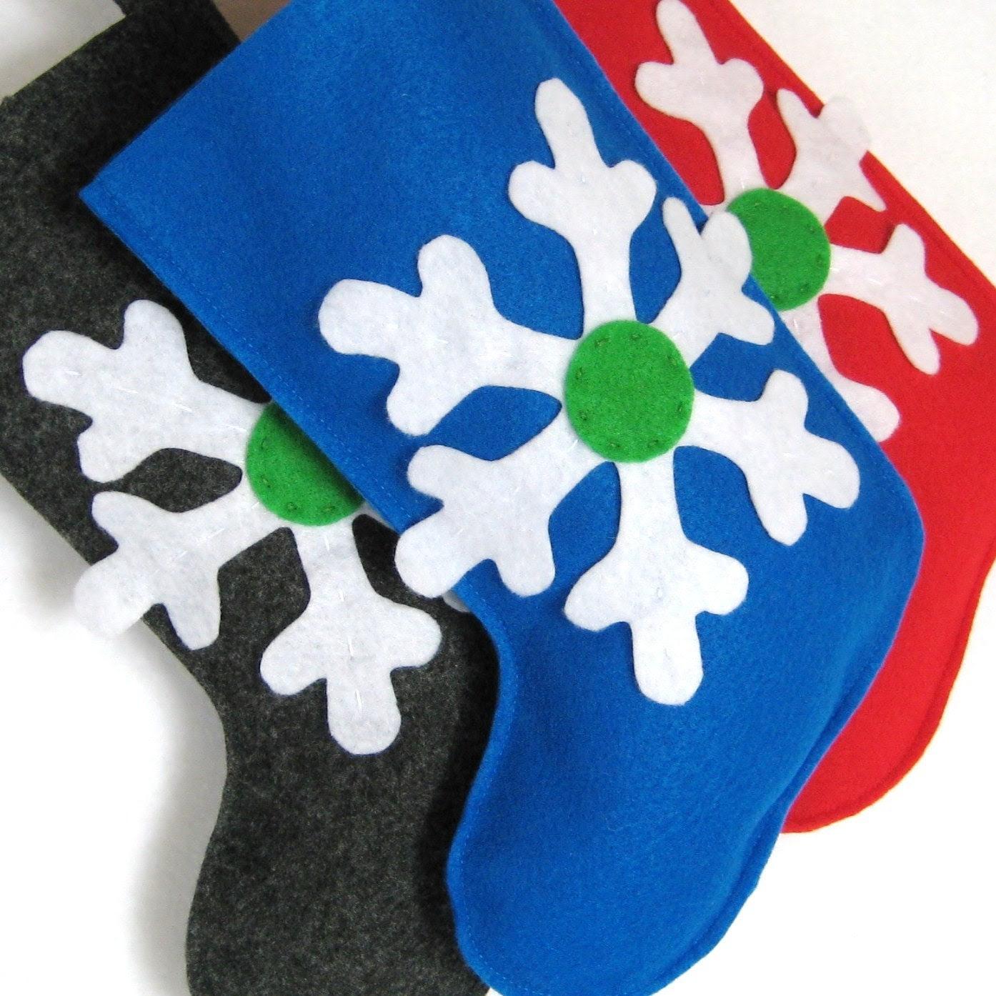 Snowflake Style Christmas Stocking