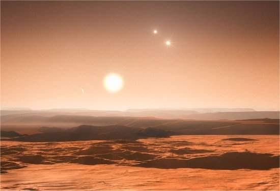 Sistema de três sóis pode ter três planetas na zona habitável