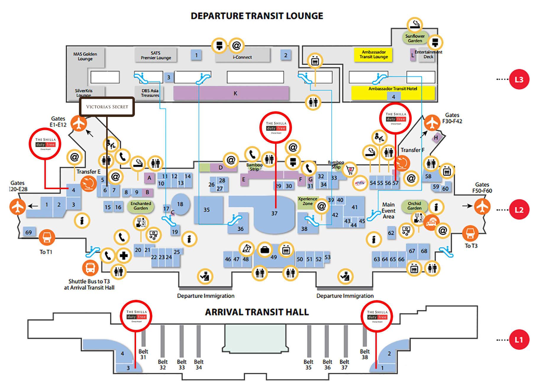 terminal 2 changi map Map Of Changi Airport Terminal 1 terminal 2 changi map